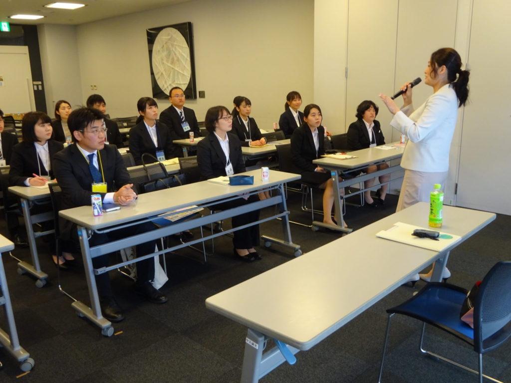 愛知県西三河地区合同企業説明会で、「行きたい会社に入社できる自己紹介セミナー」をさせて頂きました。