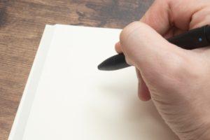 ノートに書きまとめるイメージ